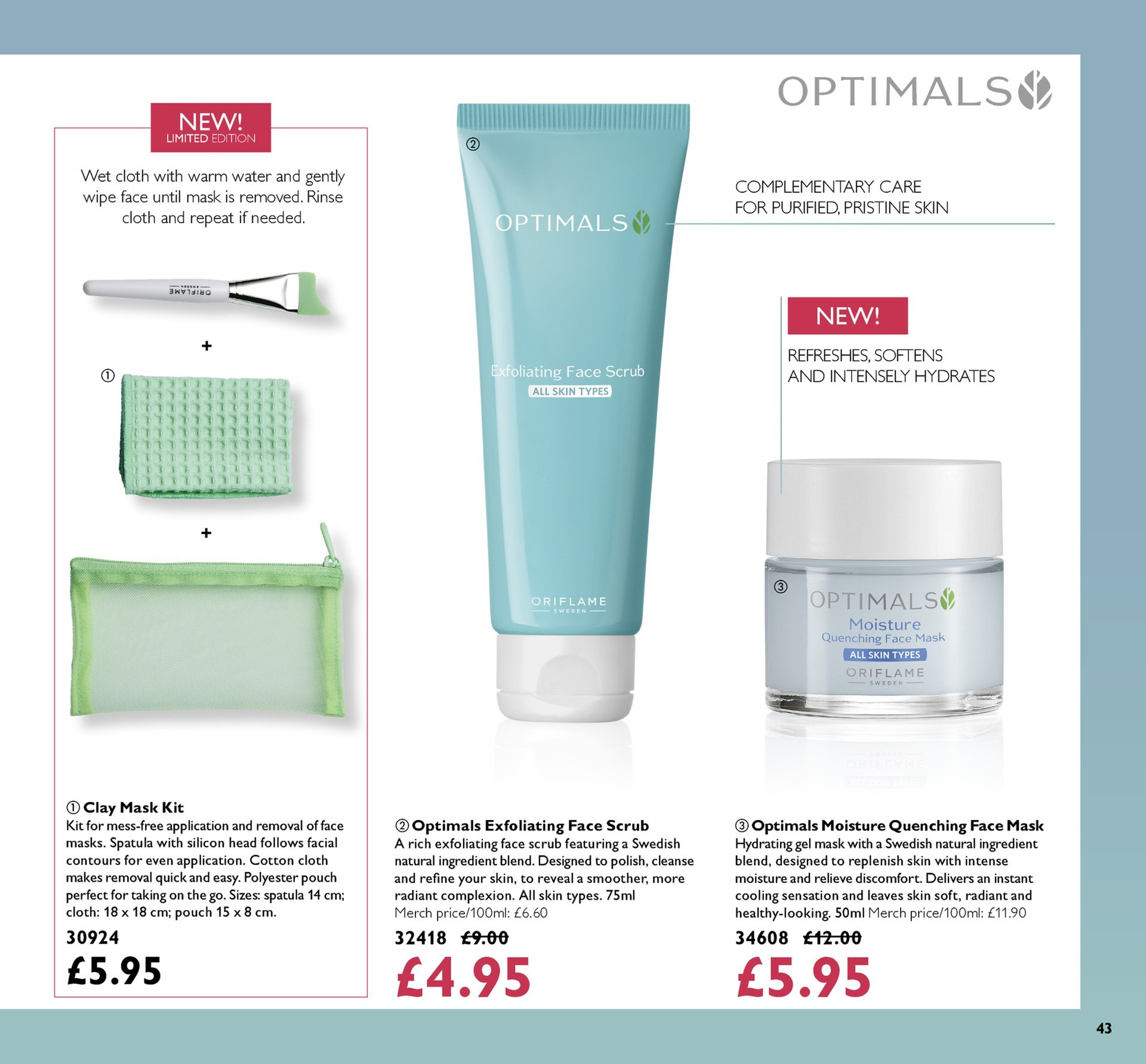 Oriflame offer  - 19.10.2018 - 8.11.2018. Page 43.