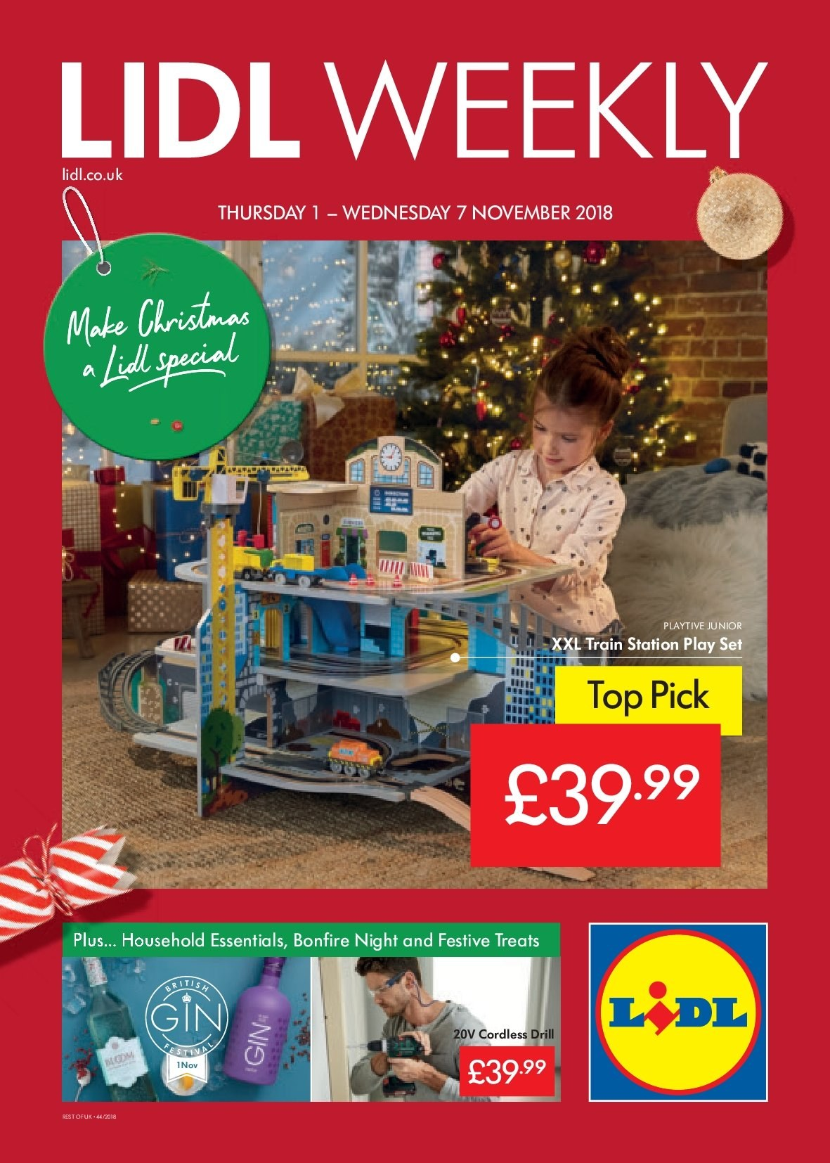 Lidl offer  - 1.11.2018 - 7.11.2018. Page 1.