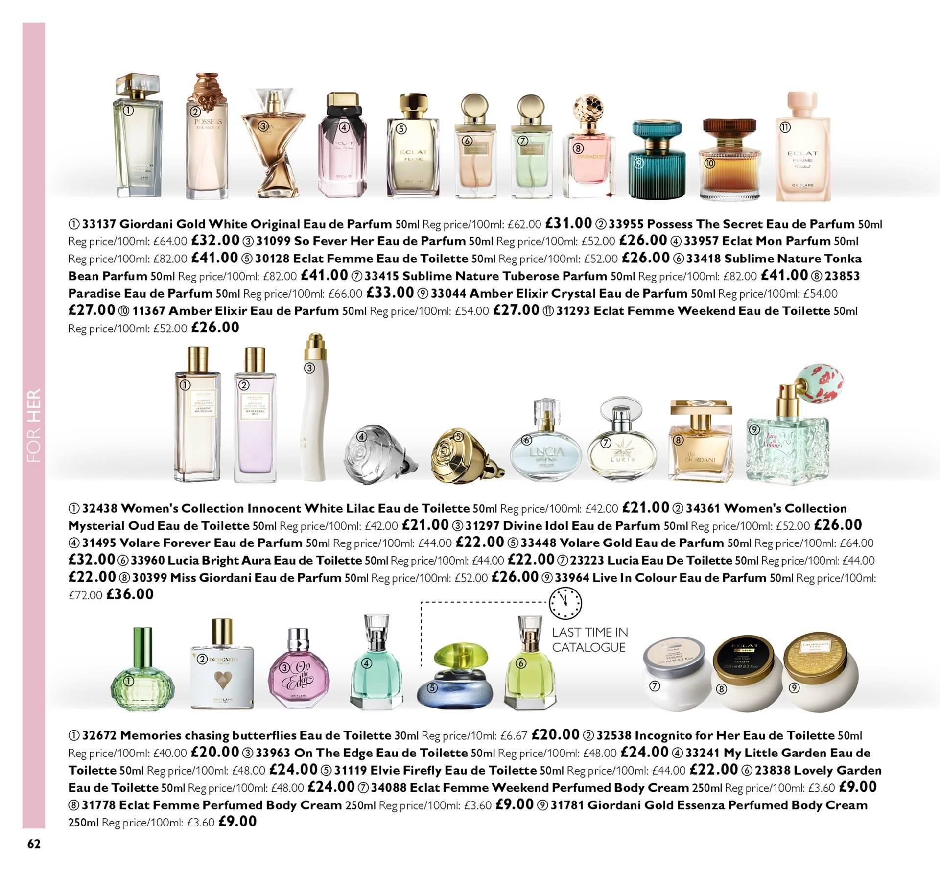 Oriflame offer  - 30.11.2018 - 20.12.2018. Page 62.