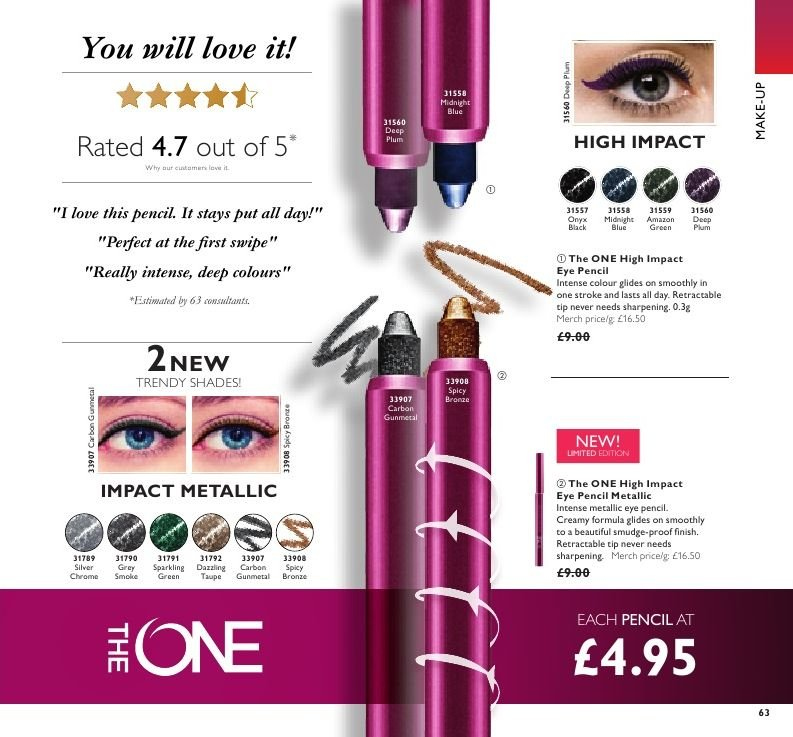 Oriflame offer  - 21.12.2018 - 17.1.2019. Page 63.