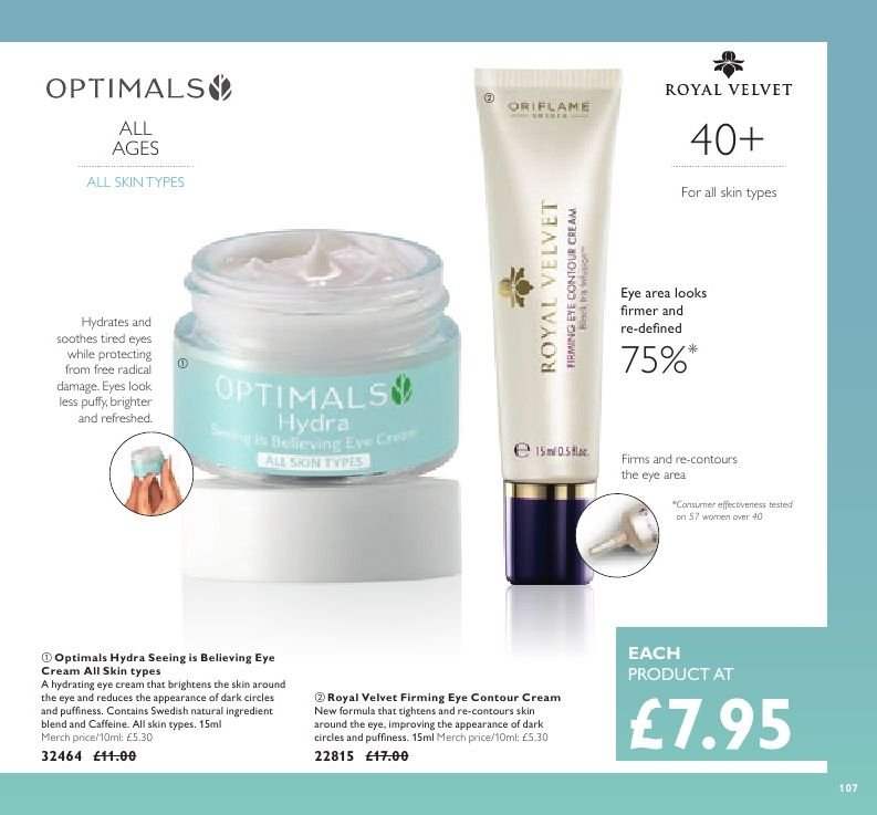 Oriflame offer  - 21.12.2018 - 17.1.2019. Page 107.