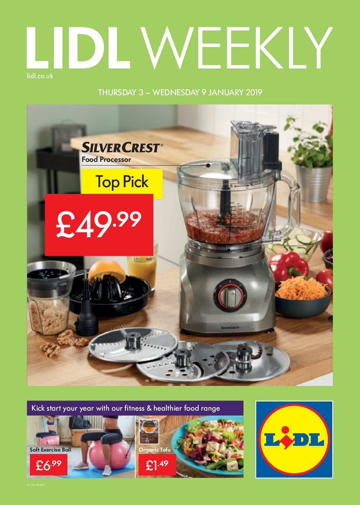 Lidl offer  - 3.1.2019 - 9.1.2019. Page 1.