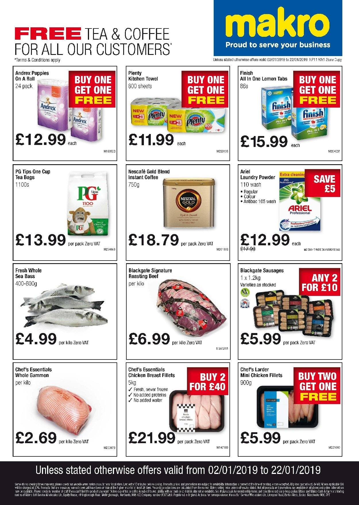 Makro offer  - 2.1.2019 - 22.1.2019. Page 1.