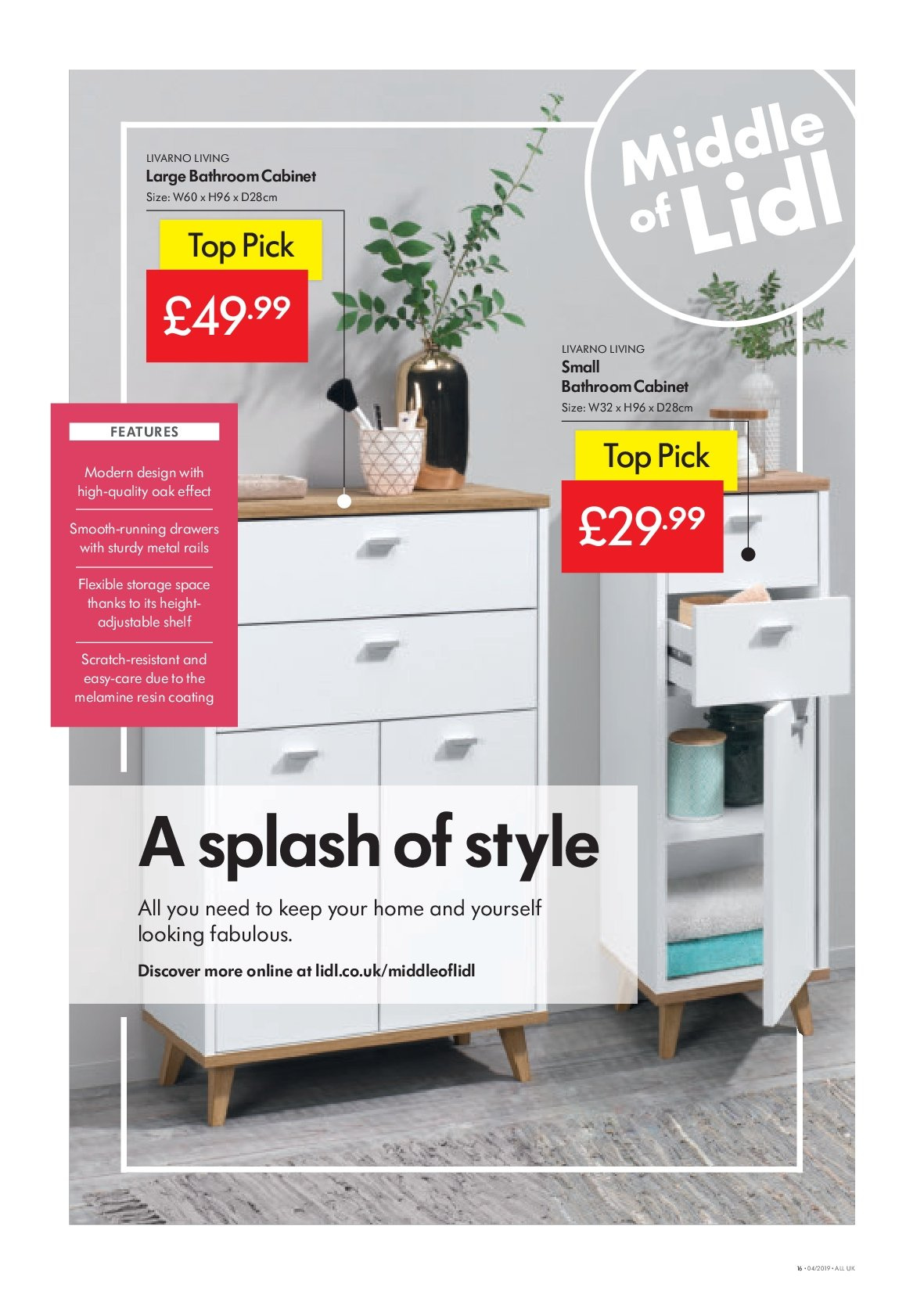 Lidl offer 24 1 2019 30 1 2019 sales products bathroom