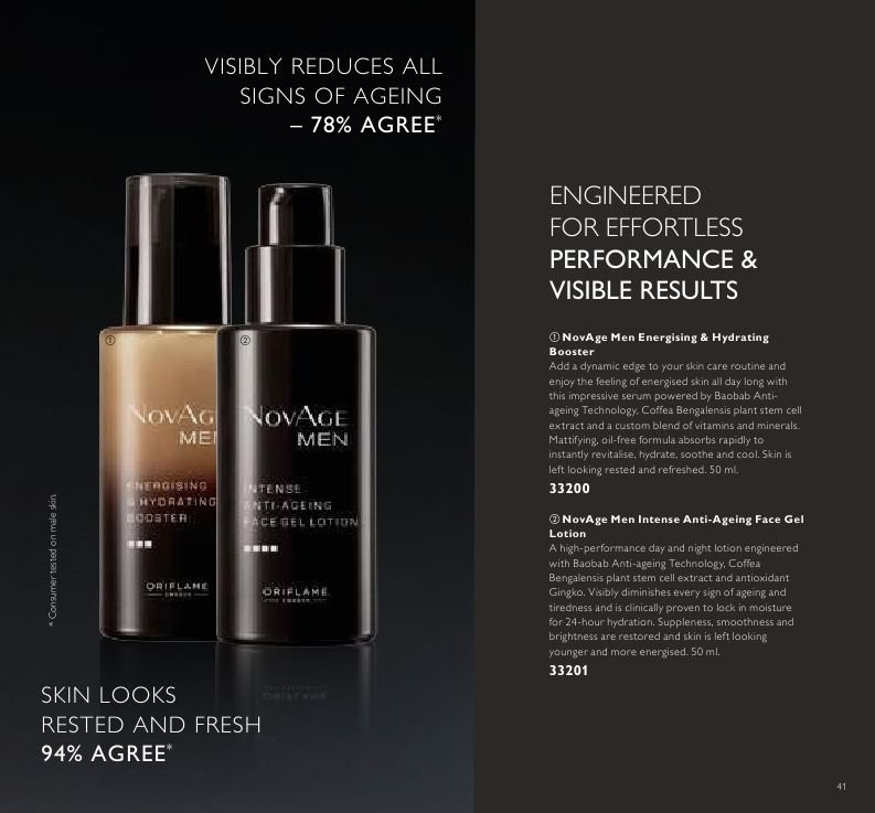 Oriflame offer  - Sales products - serum. Page 41.