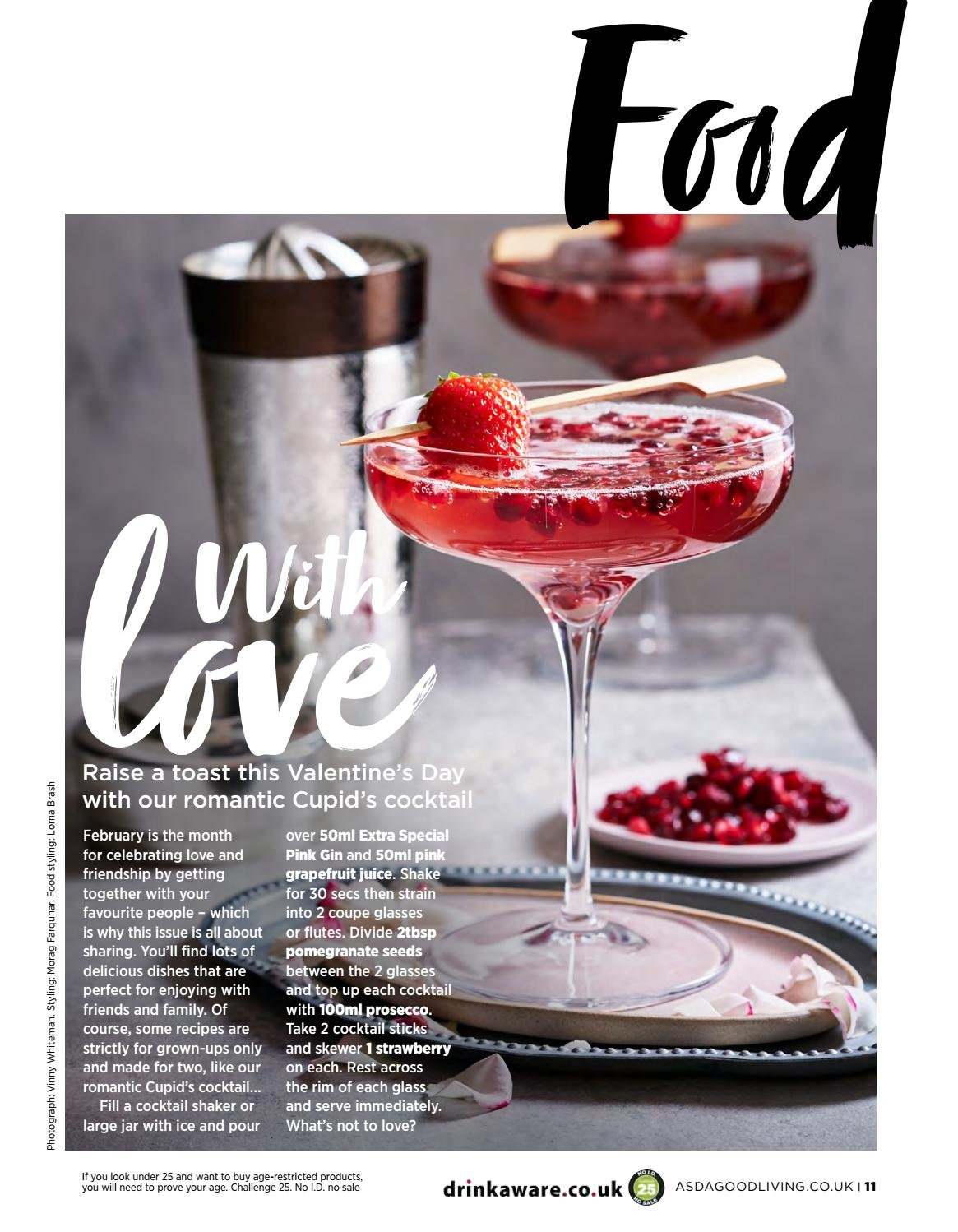 ASDA offer  - 1.2.2019 - 28.2.2019 - Sales products - pomegranate, toast bread, shakes, juice, prosecco, gin, shaker. Page 11.
