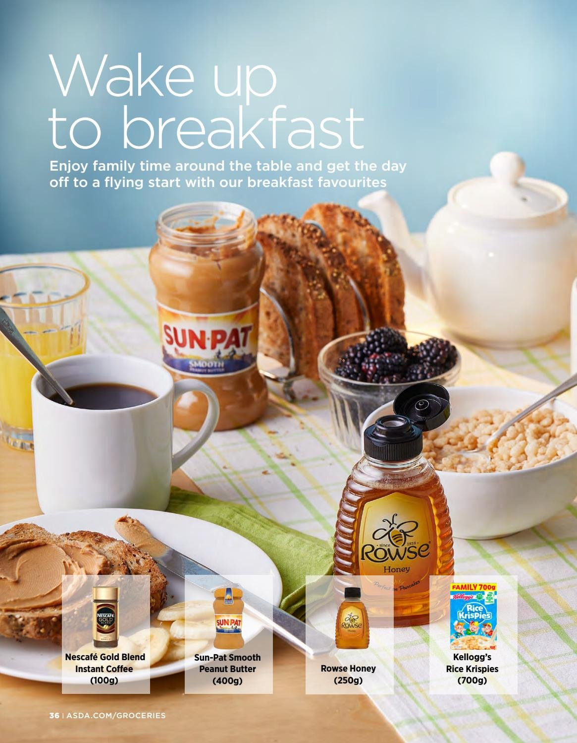 ASDA offer  - 1.2.2019 - 28.2.2019 - Sales products - Kellogg's, Rice Krispies, honey, peanut butter, instant coffee, Nescafé. Page 36.