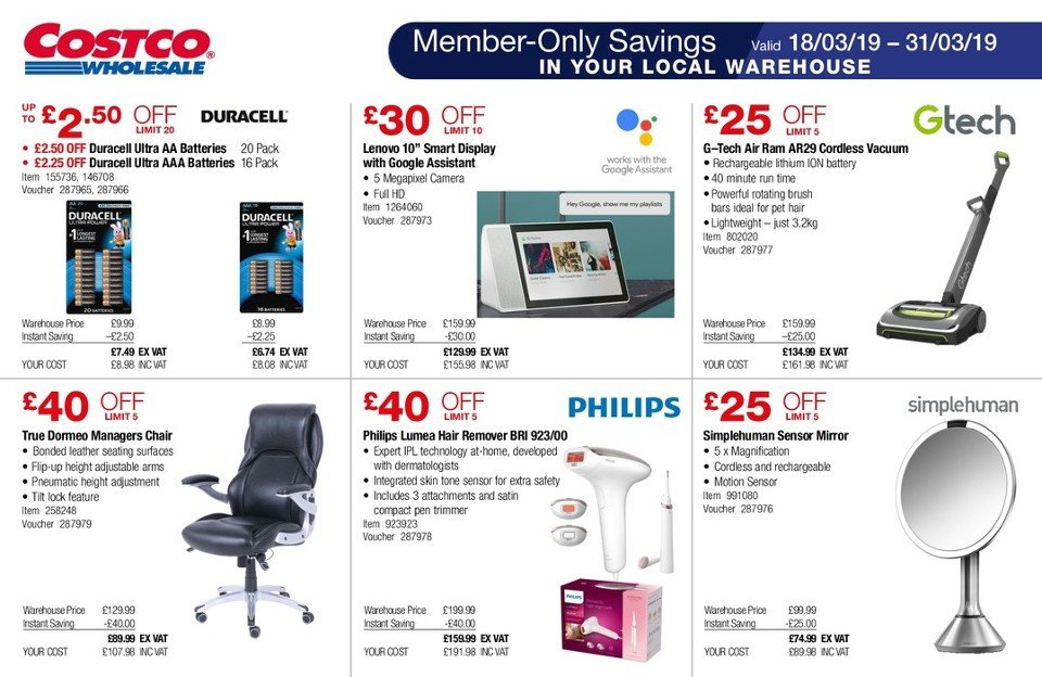 Costco offer 18 3 2019 - 31 3 2019 | My-leaflet co uk