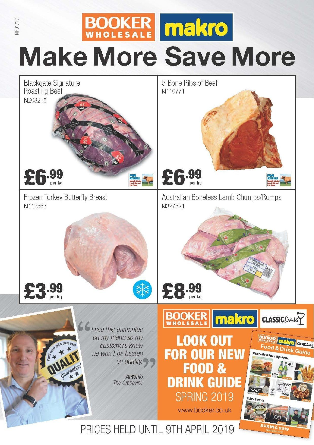 Makro offer  - 16.3.2019 - 9.4.2019. Page 1.