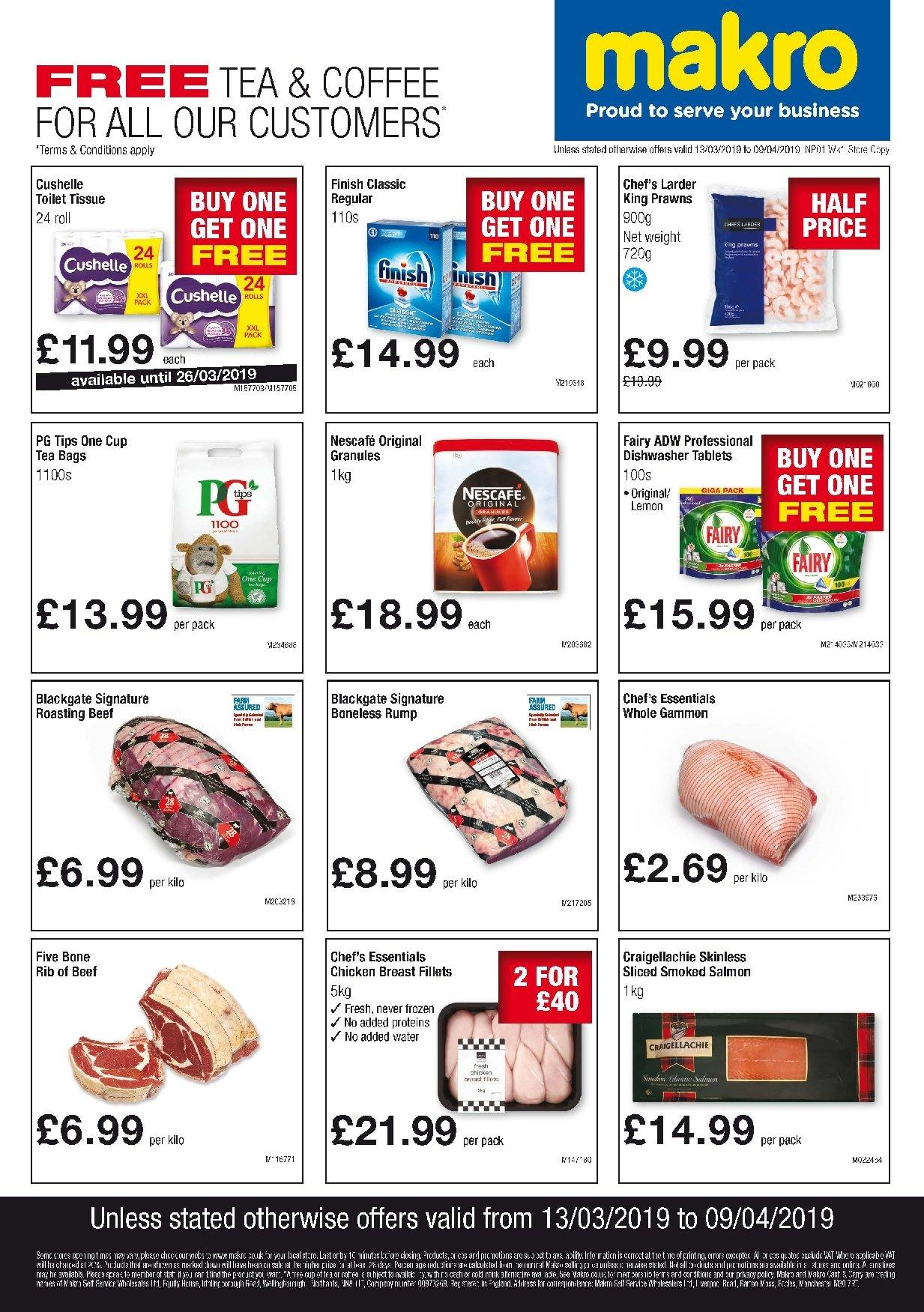 Makro offer  - 13.3.2019 - 9.4.2019. Page 1.
