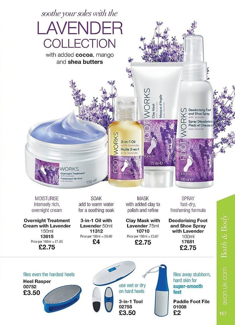 Avon offer  - 4.4.2019 - 24.4.2019 - Sales products - cocoa, cream, mango, mask, spray, treatment, smooth. Page 157.