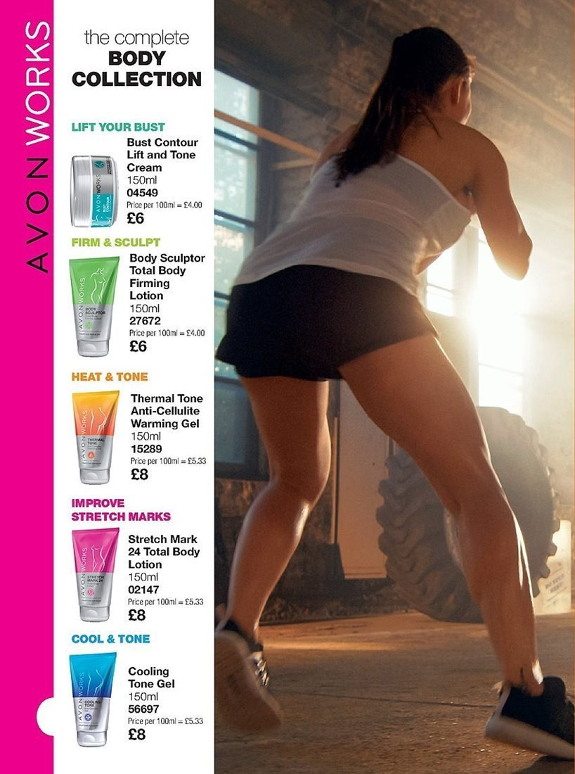 Avon offer  - 4.4.2019 - 24.4.2019 - Sales products - body lotion, cream, contour. Page 204.