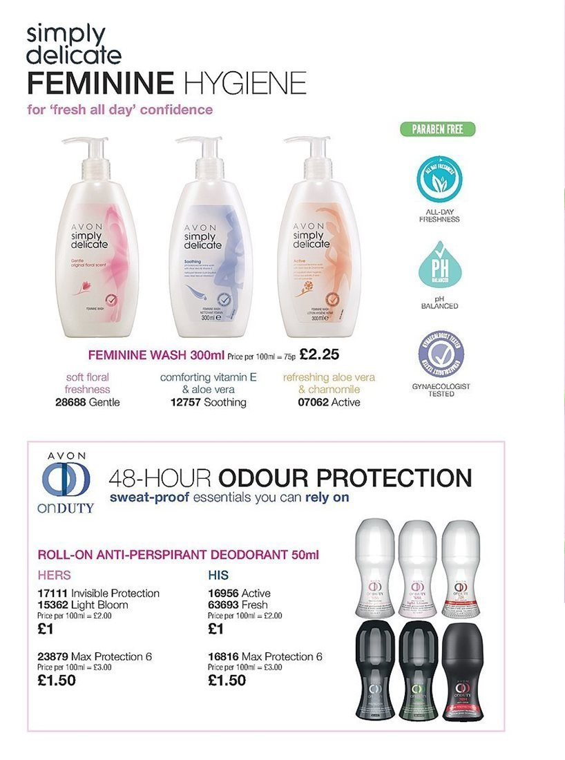 Avon offer  - 4.4.2019 - 24.4.2019 - Sales products - aloe, anti-perspirant, deodorant, roll-on. Page 218.