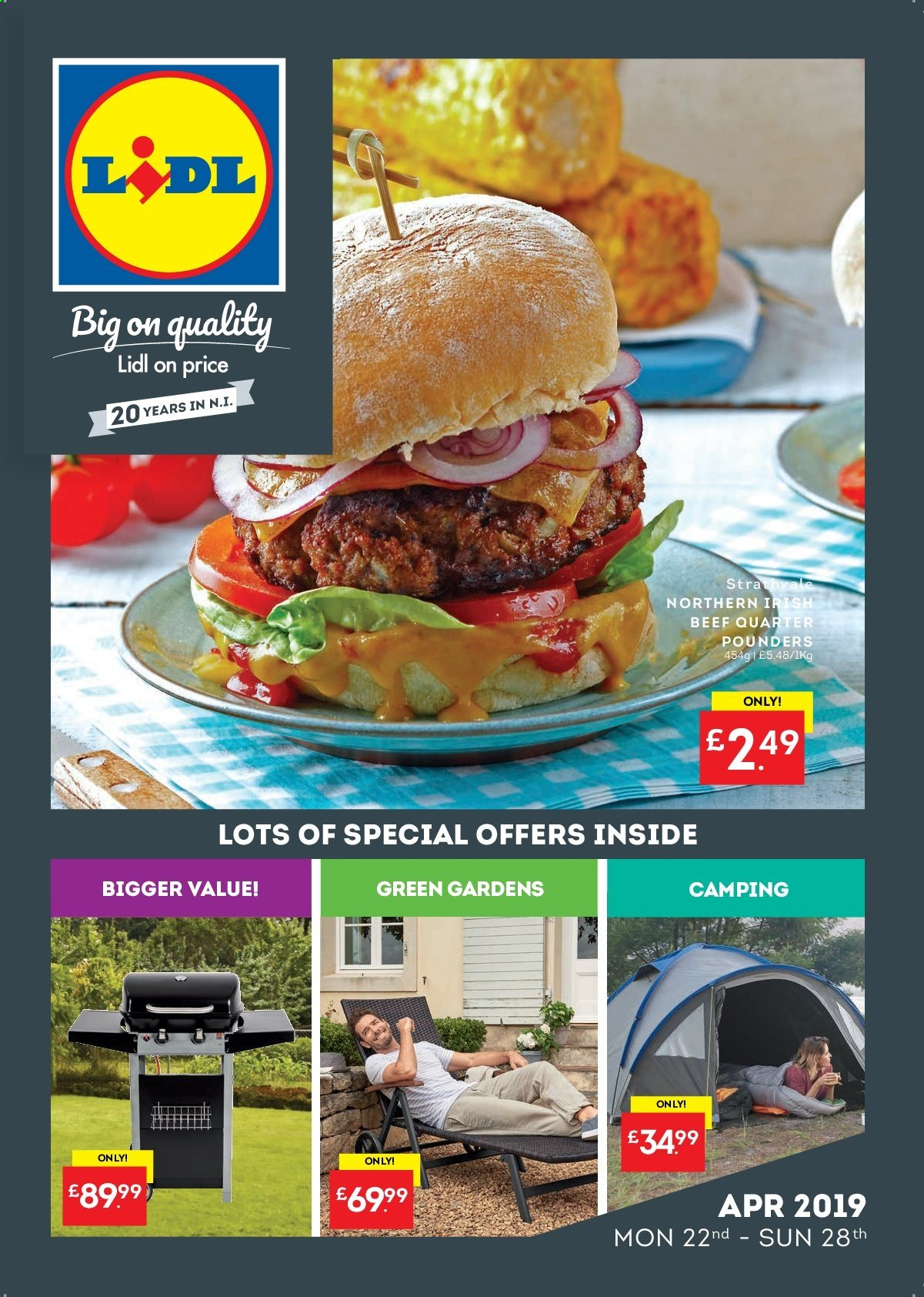 Lidl offer  - 22.4.2019 - 28.4.2019. Page 1.