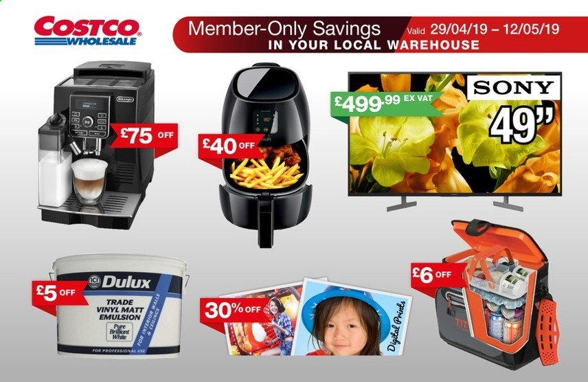 Costco offer  - 29.4.2019 - 12.5.2019. Page 1.