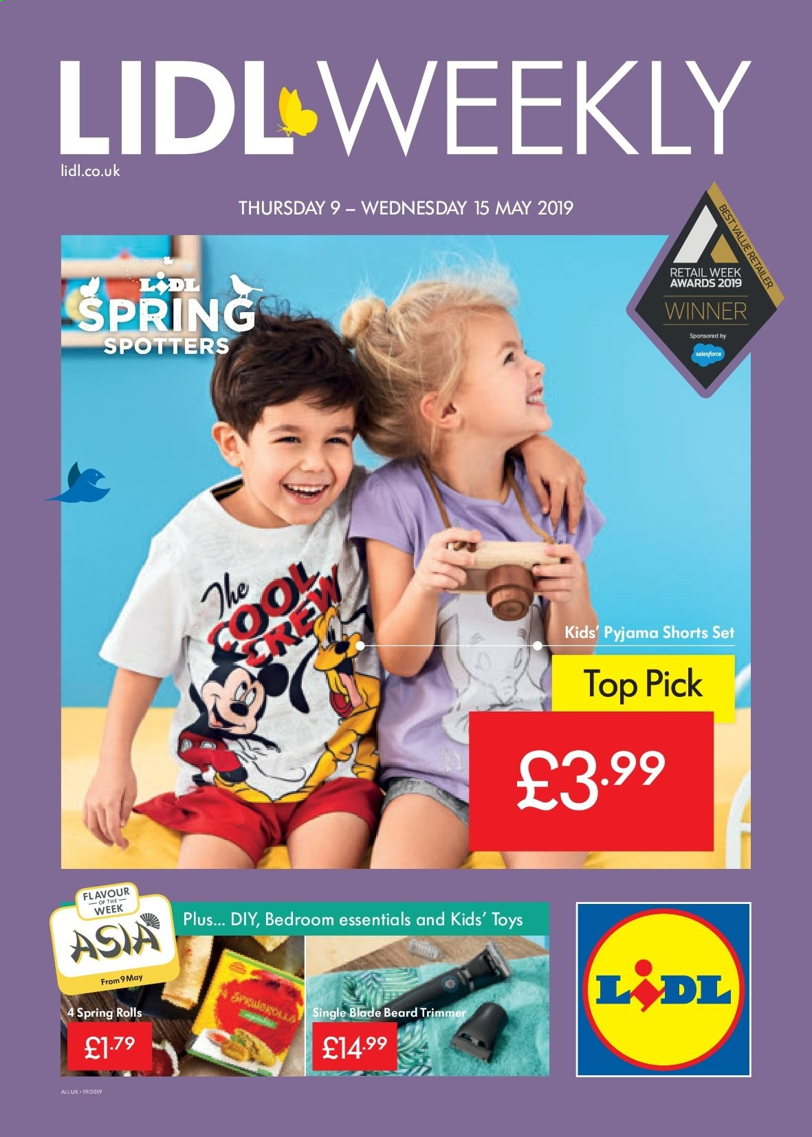 Lidl offer  - 9.5.2019 - 15.5.2019. Page 1.
