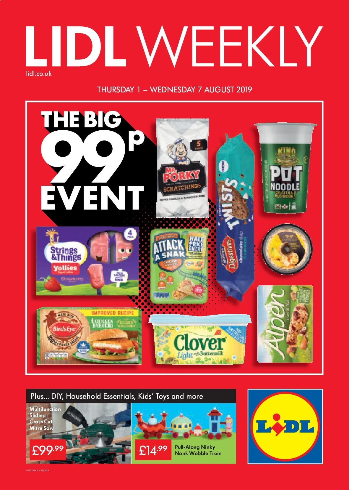 Lidl offer  - 1.8.2019 - 7.8.2019. Page 1.