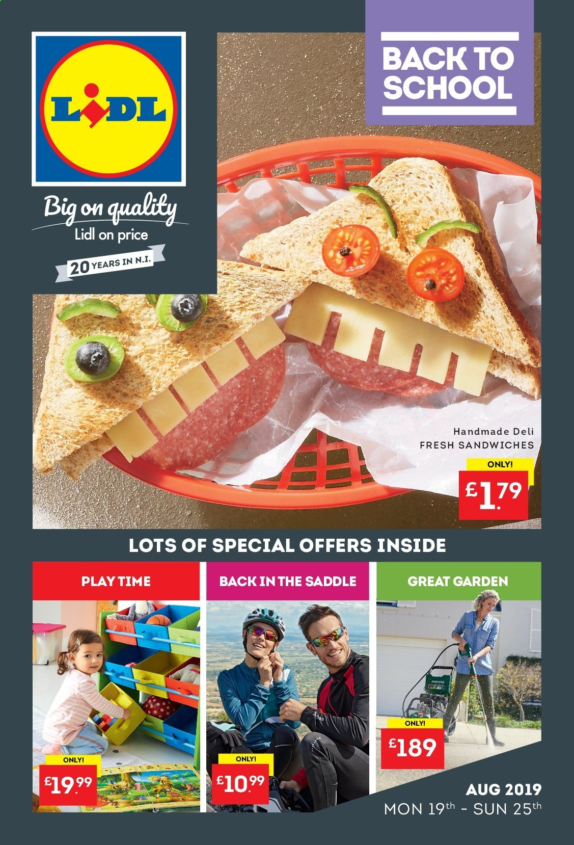 Lidl offer  - 19.8.2019 - 25.8.2019. Page 1.