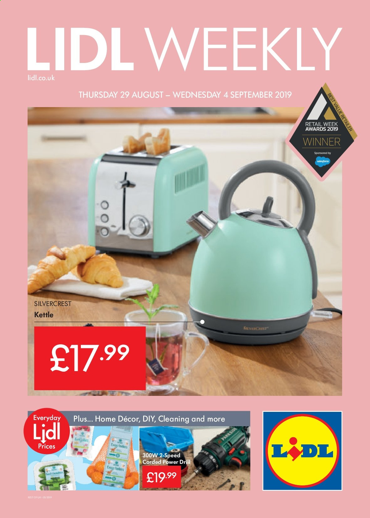 Lidl offer  - 29.8.2019 - 4.9.2019. Page 1.