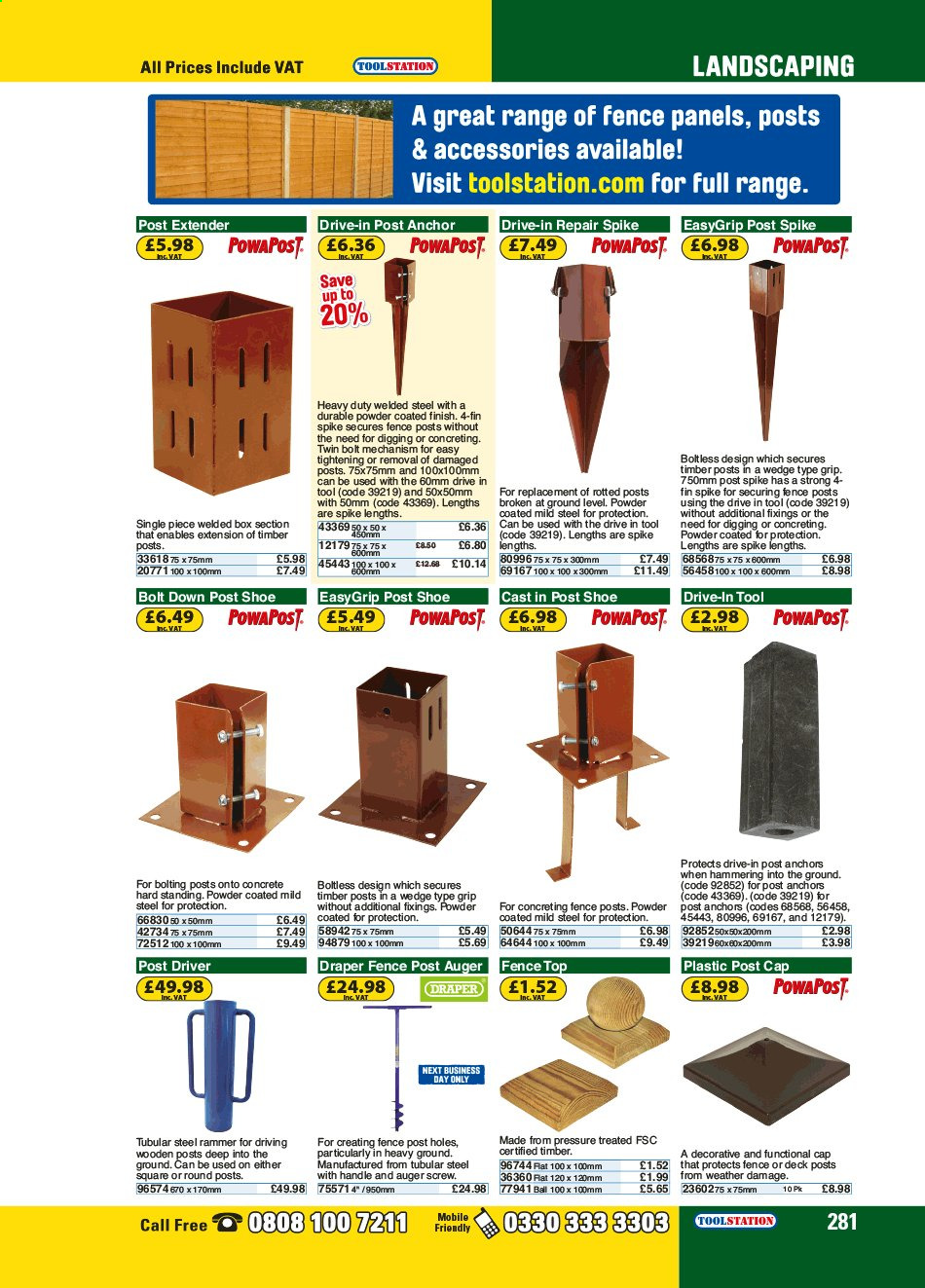 Toolstation offer . Page 281.
