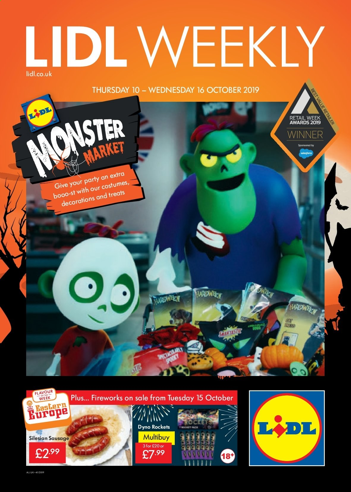 Lidl offer  - 10.10.2019 - 16.10.2019. Page 1.