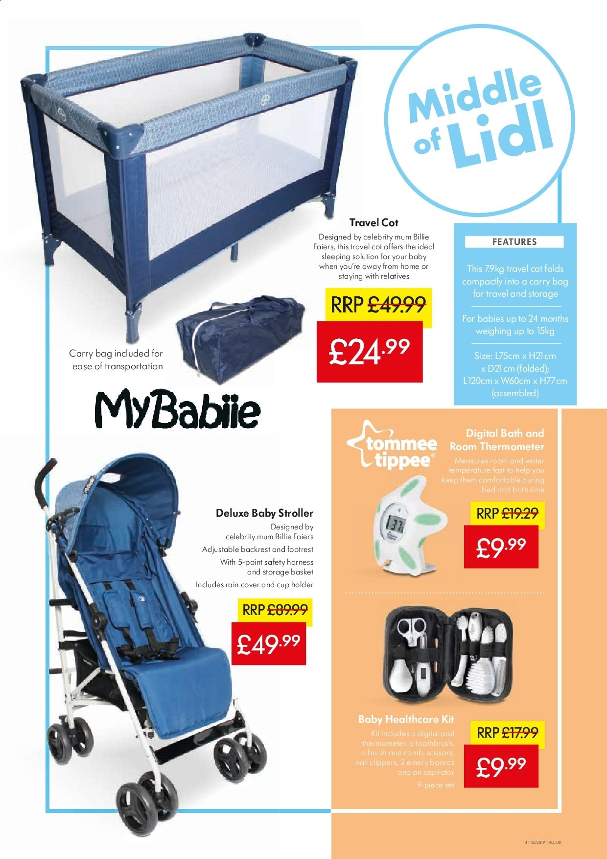 Lidl offer  - 17.10.2019 - 23.10.2019 - Sales products - bag, basket, bath, bed, brush, cover, cup, storage, thermometer, toothbrush, holder, scissors. Page 4.