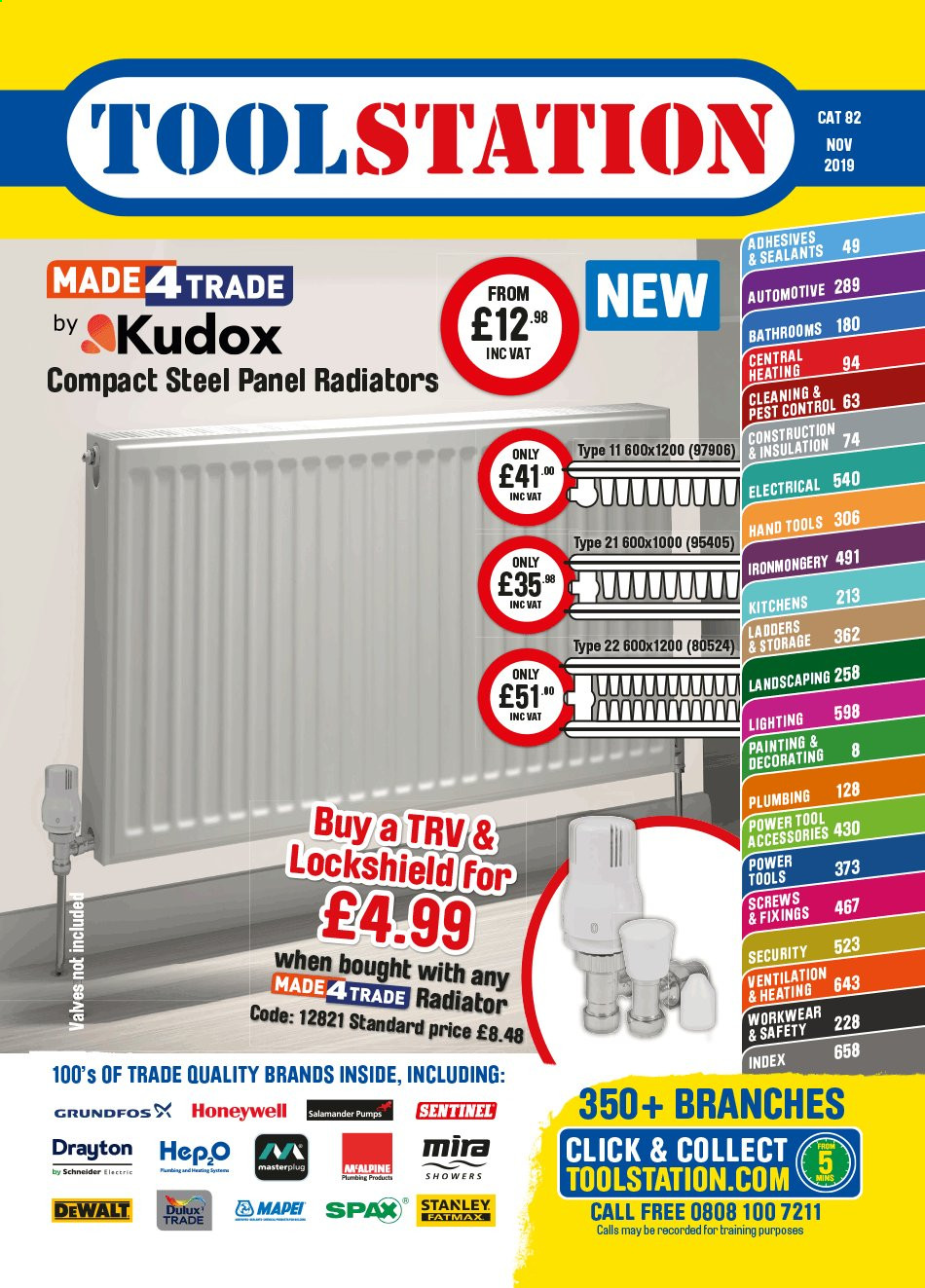 Toolstation offer  - Sales products - Dulux, Stanley, DeWALT, power tools, hand tools, painting kit, Honeywell. Page 1.