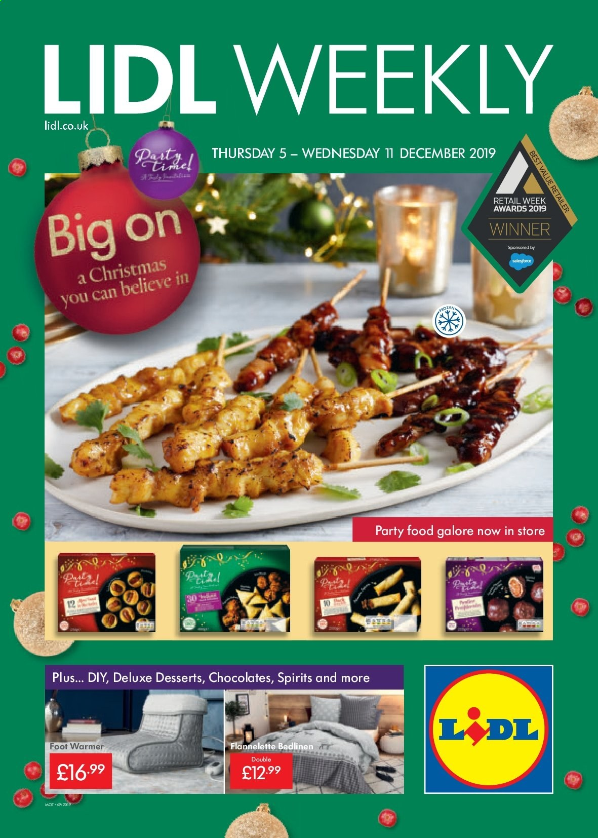 Lidl offer  - 5.12.2019 - 11.12.2019. Page 1.