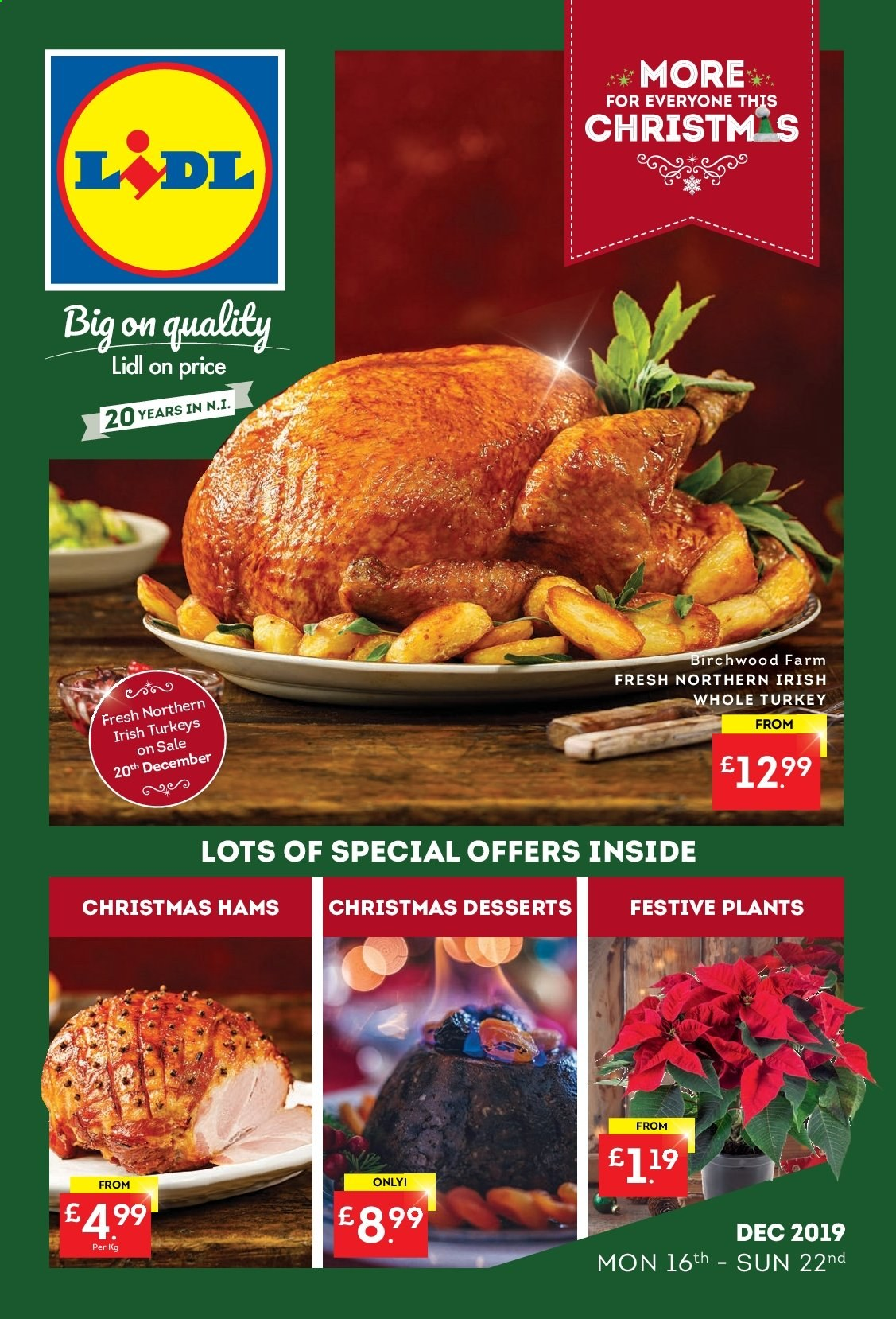 Lidl offer  - 16.12.2019 - 22.12.2019. Page 1.