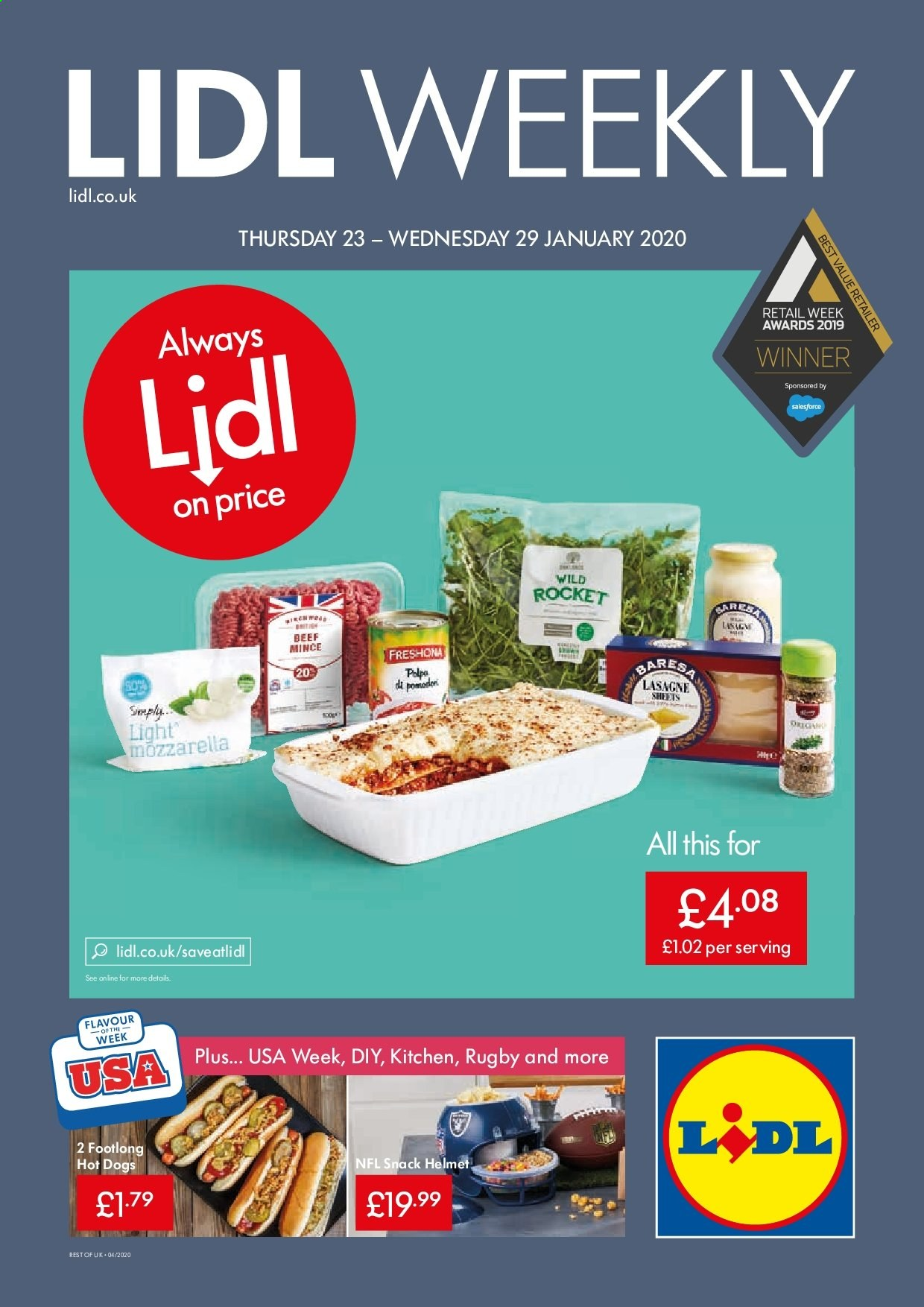 Lidl offer  - 23.1.2020 - 29.1.2020. Page 1.