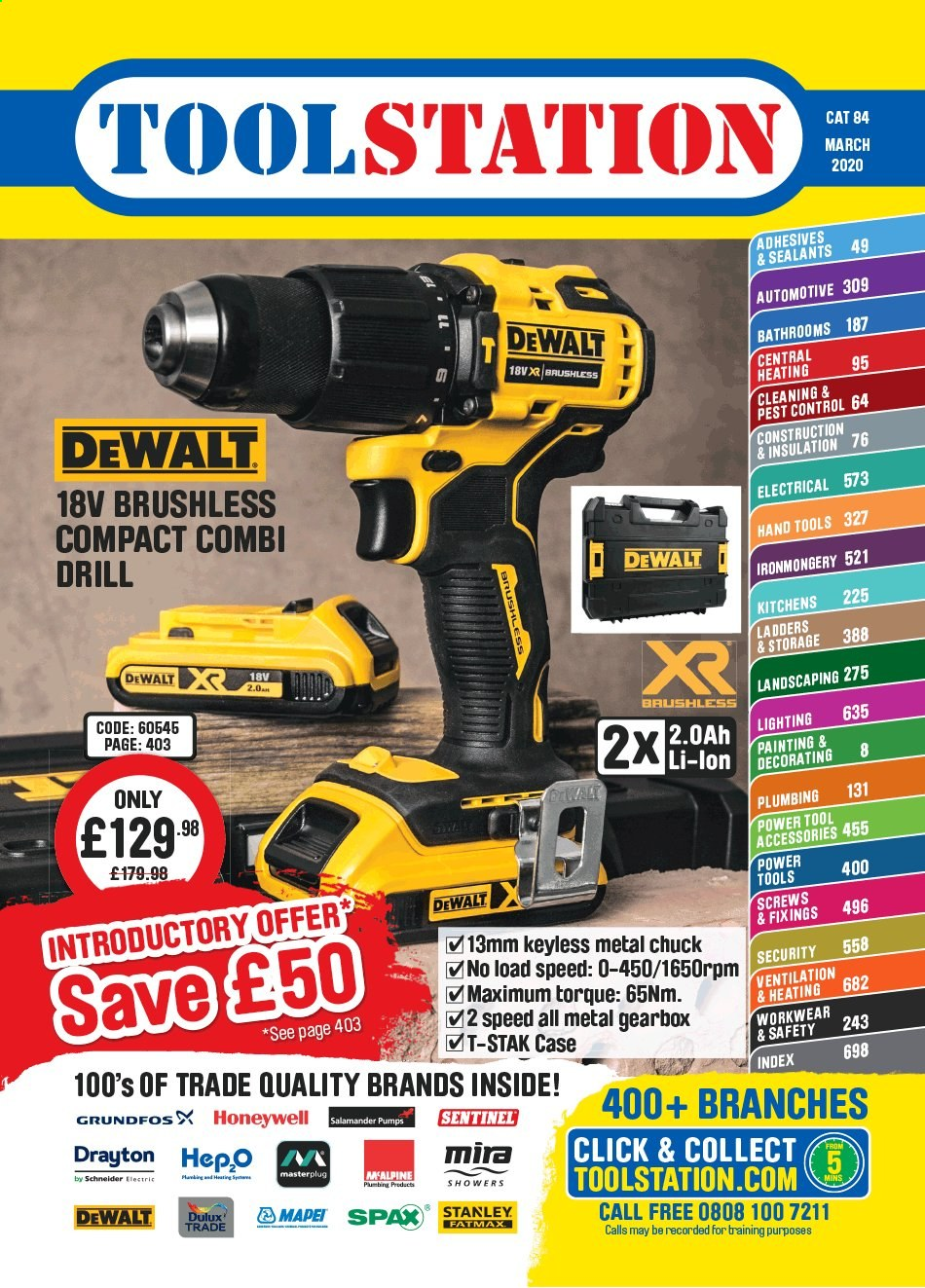 Toolstation offer  - Sales products - Dulux, Stanley, DeWALT, drill, power tools, hand tools, painting kit, Honeywell. Page 1.