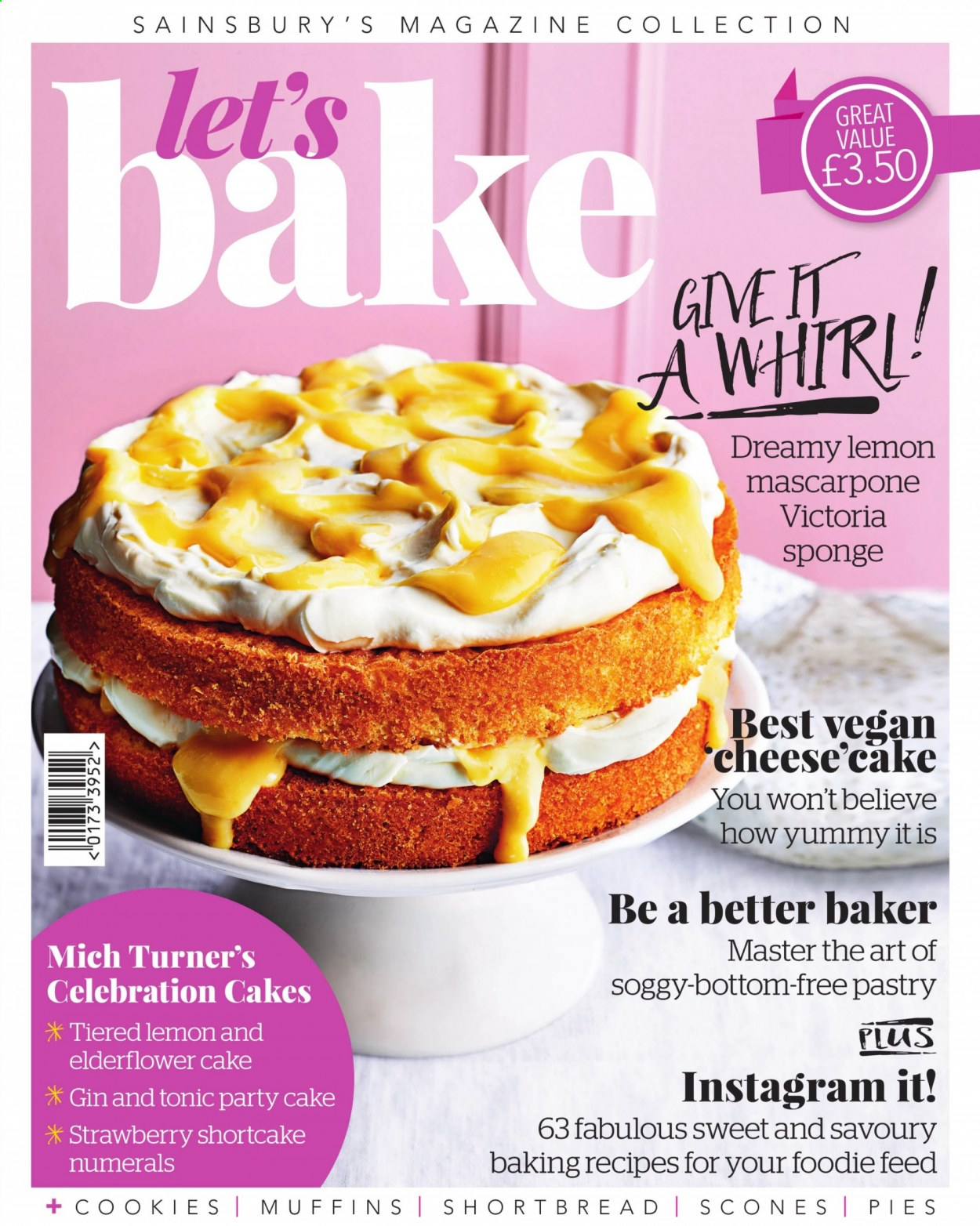 Sainsbury's offer  - Sales products - bottom, gin, mascarpone, muffins, turner, vegan, cheese, cake, sponge, sweet, strawberry. Page 1.