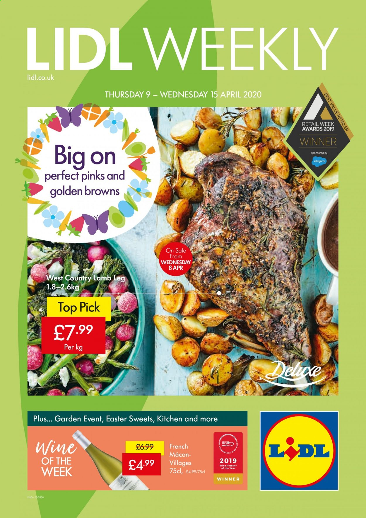 Lidl offer  - 9.4.2020 - 15.4.2020. Page 1.