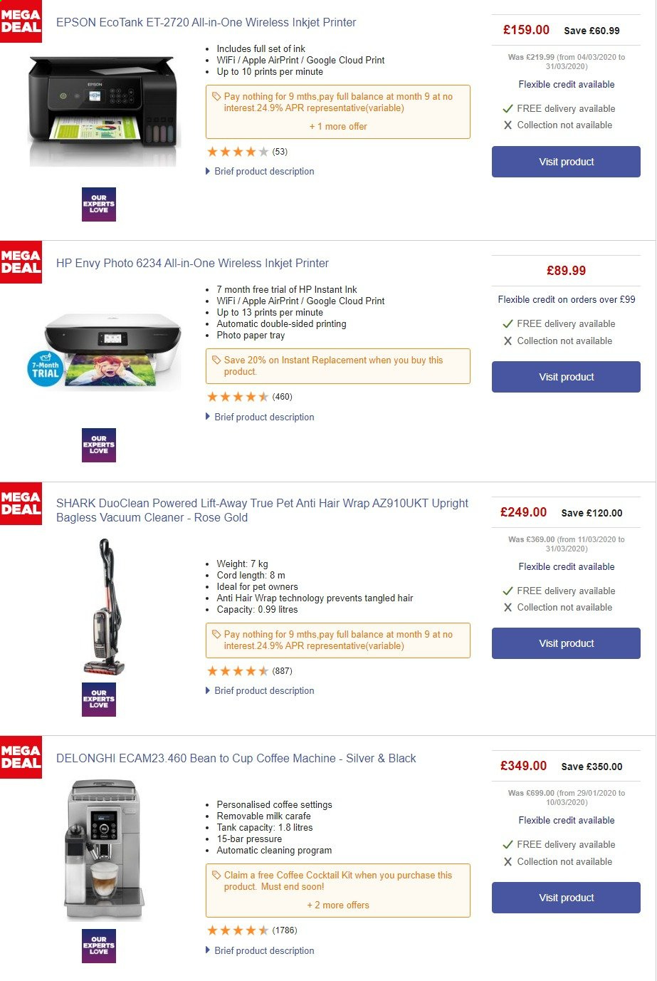 Currys PC World offer  - 25.4.2020 - 1.5.2020. Page 1.