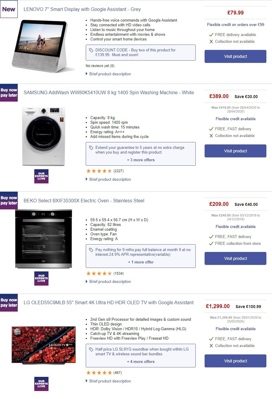 Currys PC World offer  - 23.5.2020 - 29.5.2020. Page 1.