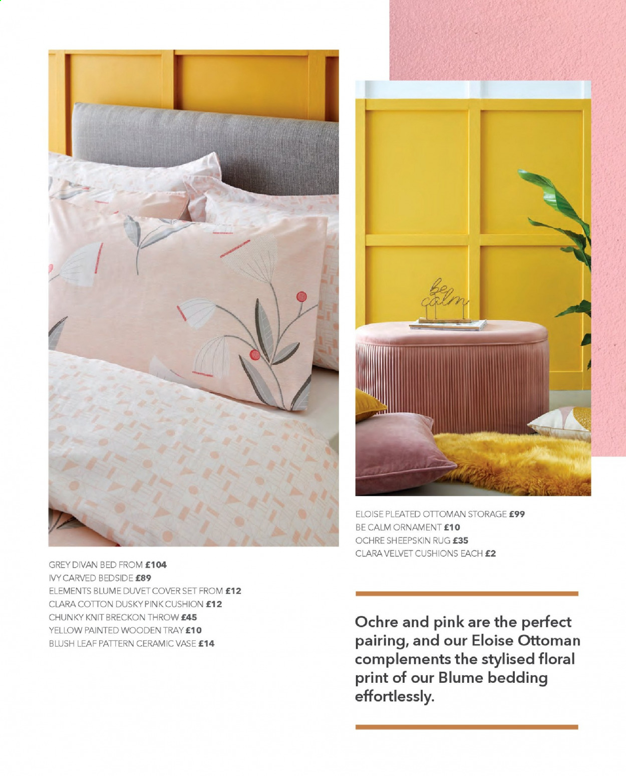 Dunelm offer  - Sales products - bed, bedding, cotton, cover, cushion, duvet, duvet cover, rug, storage, throw, tray, ornament, ottoman. Page 26.