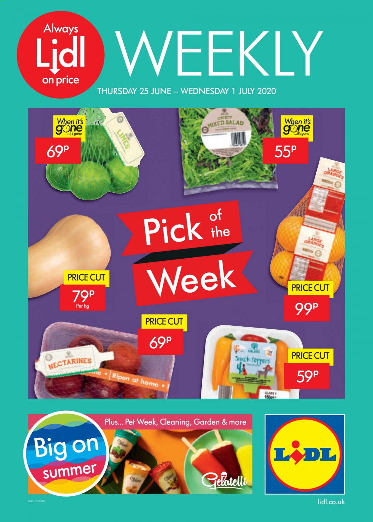 Lidl offer  - 25.6.2020 - 1.7.2020. Page 1.