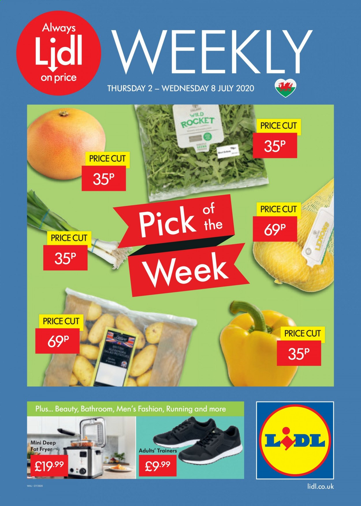 Lidl offer  - 2.7.2020 - 8.7.2020 - Sales products - always, bathroom, fryer, rocket. Page 1.