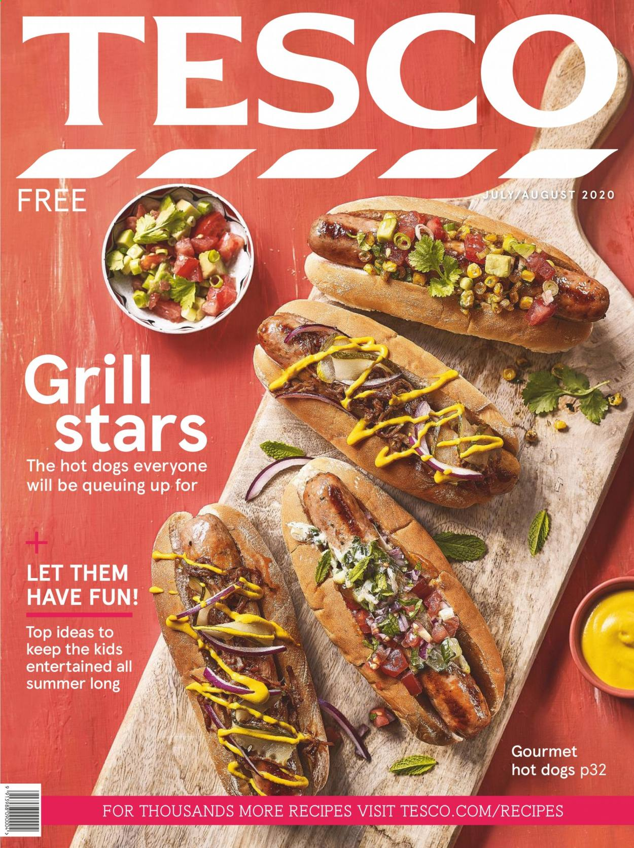 Tesco offer  - 1.7.2020 - 31.8.2020 - Sales products - hot dog. Page 1.