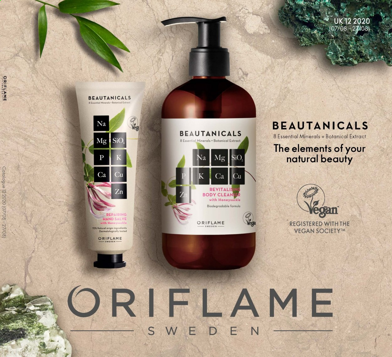 Oriflame offer  - 7.8.2020 - 27.8.2020 - Sales products - cleanser, vegan. Page 1.