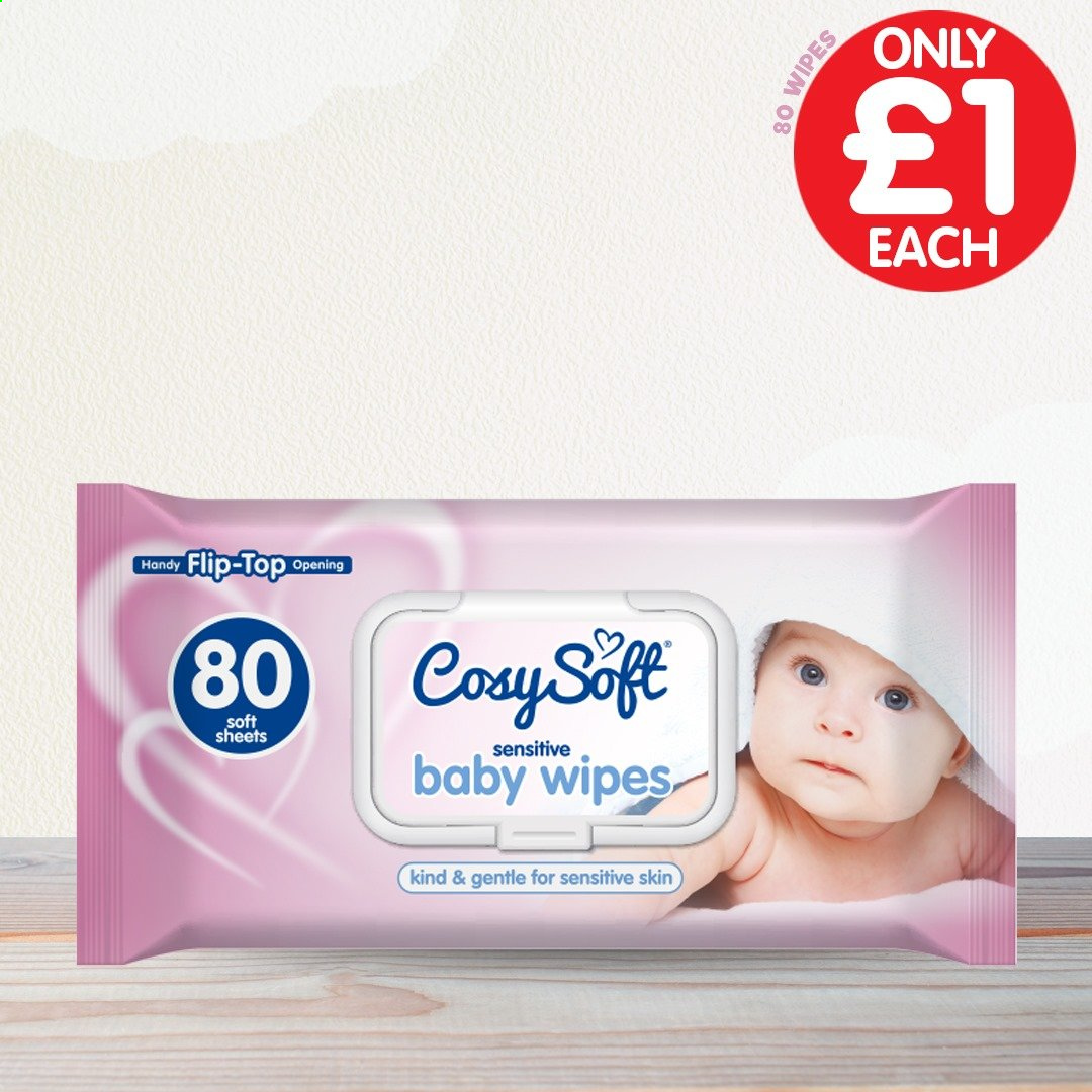 Poundstretcher offer  - Sales products - wipes, baby wipes. Page 1.