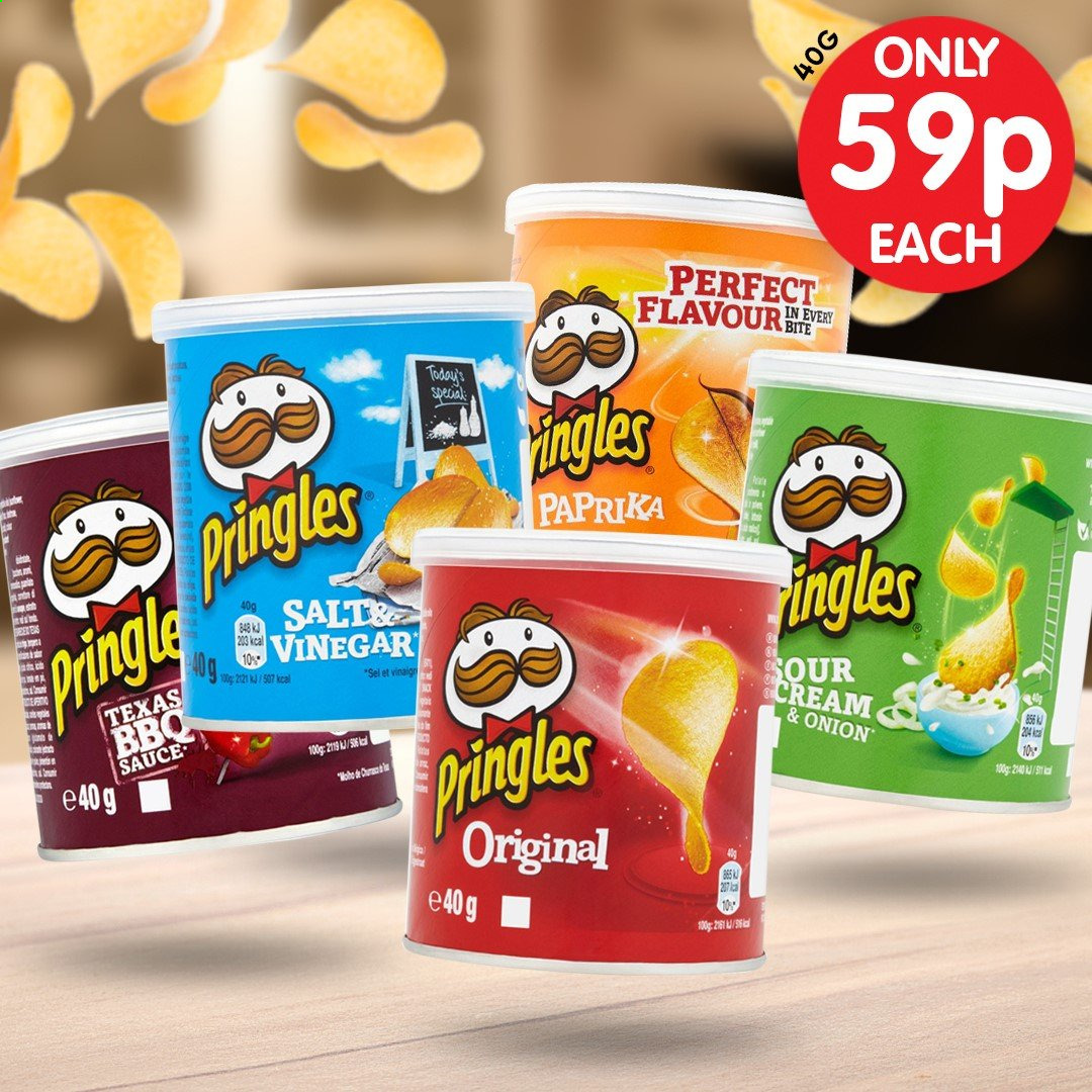 Poundstretcher offer  - Sales products - cream, sour cream, vinegar, pringles, onion. Page 6.