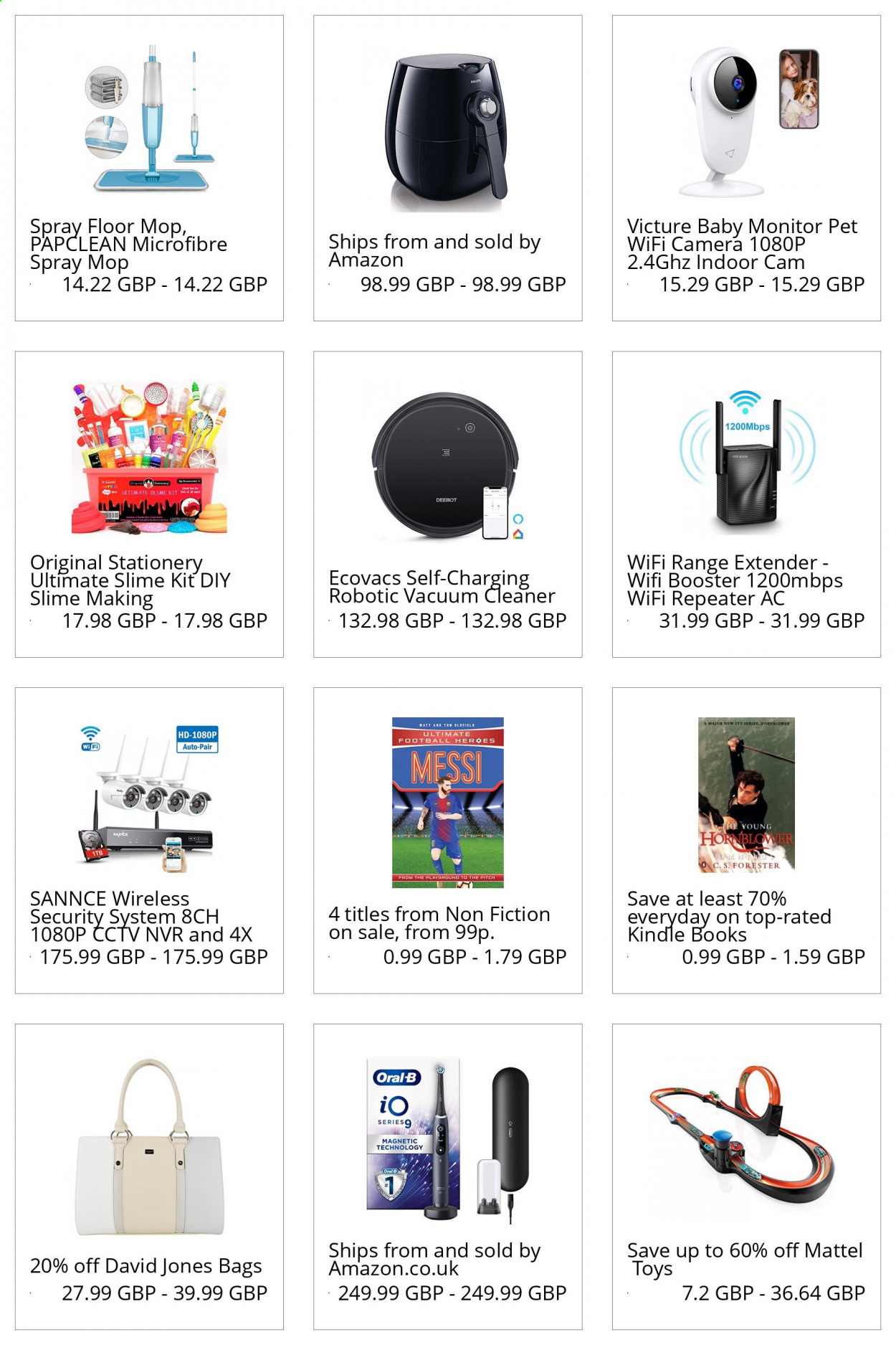 Amazon offer  - Sales products - bag, camera, mattel, monitor, spray, vacuum, vacuum cleaner, wifi, oral-b, toys, wireless, amazon, mop, cleaner, extender, range extender, ecovacs. Page 1.