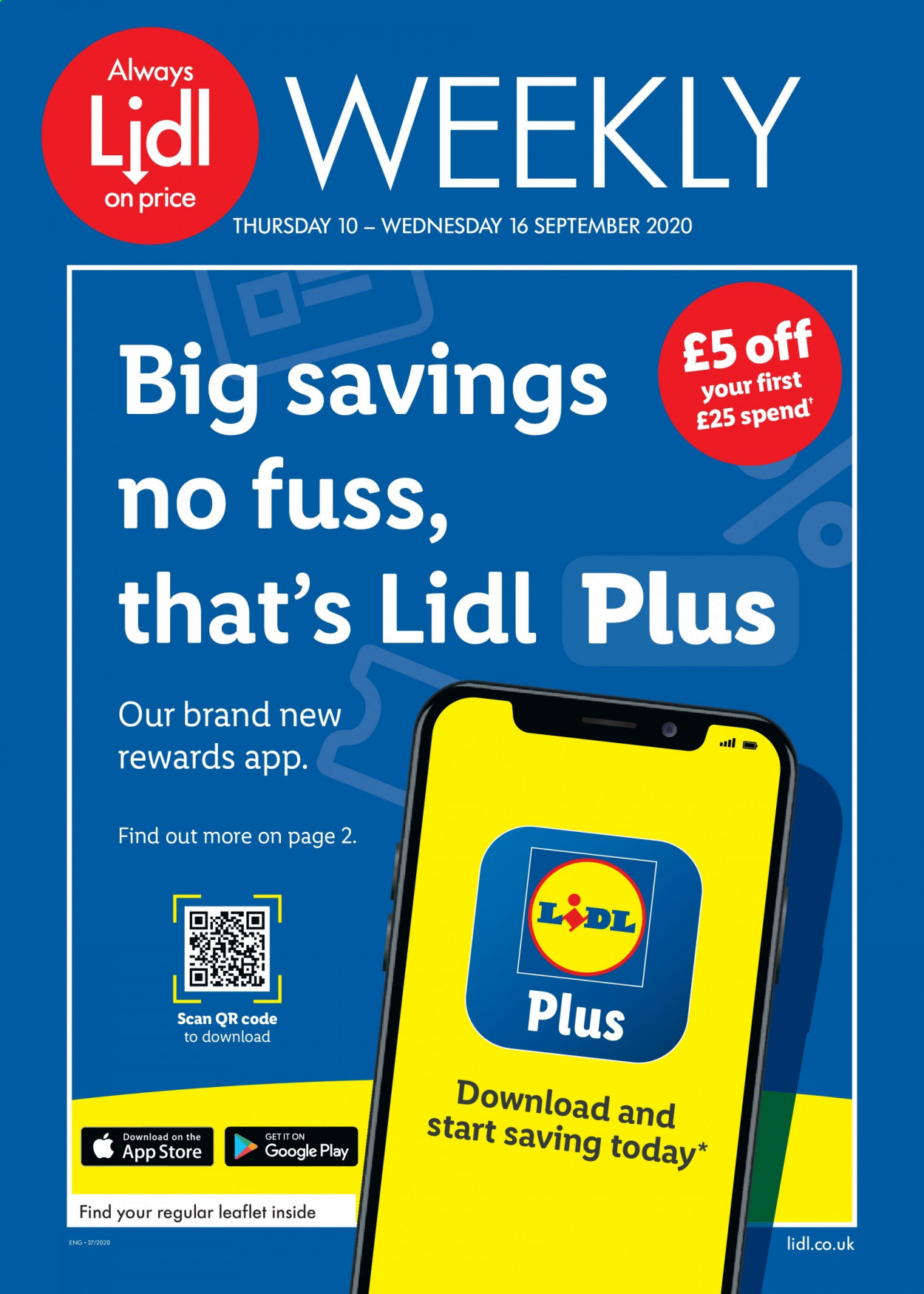 Lidl offer  - 10.9.2020 - 16.9.2020 - Sales products - always, google. Page 1.
