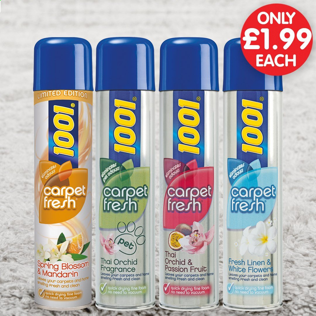 Poundstretcher offer  - Sales products - foam, fragrance, vacuum, carpet, fruit. Page 19.