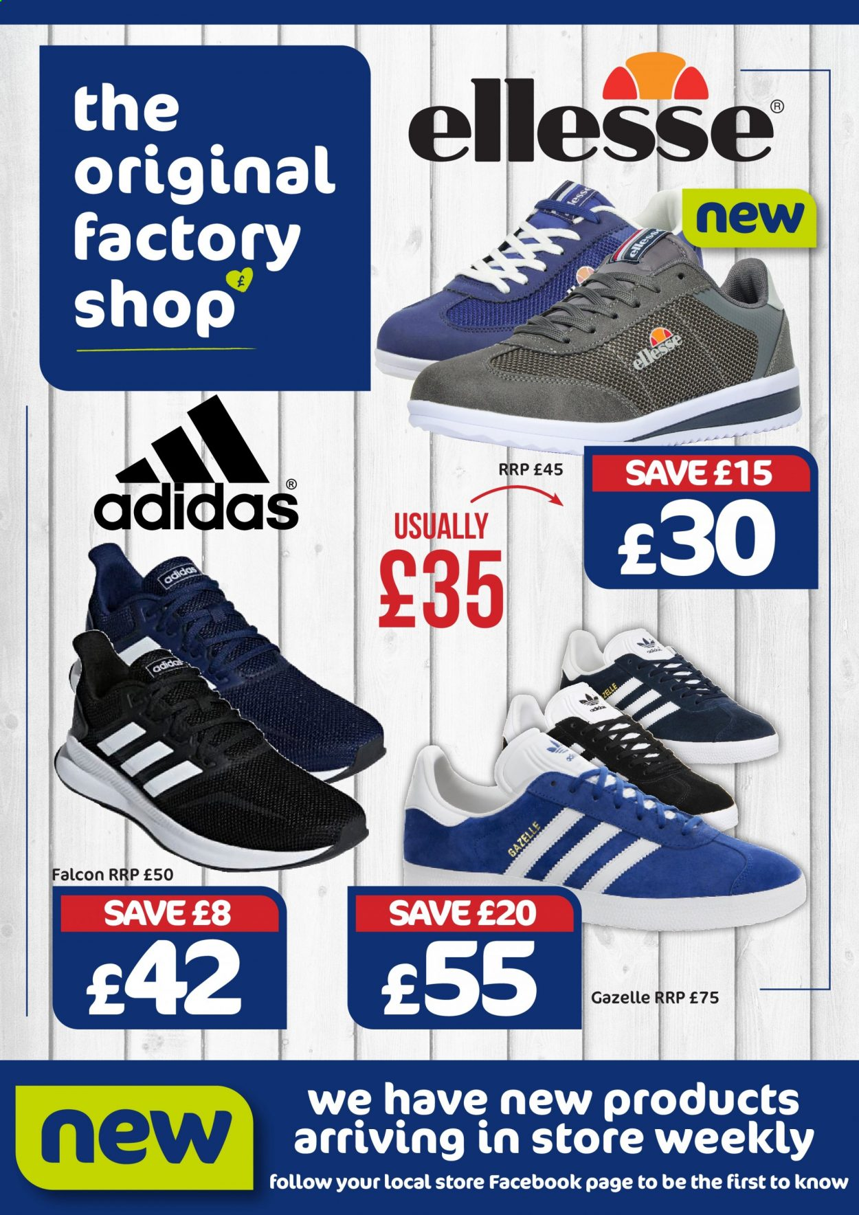 The Original Factory Shop offer  - 10.9.2020 - 11.9.2020 - Sales products - adidas, ellesse. Page 1.