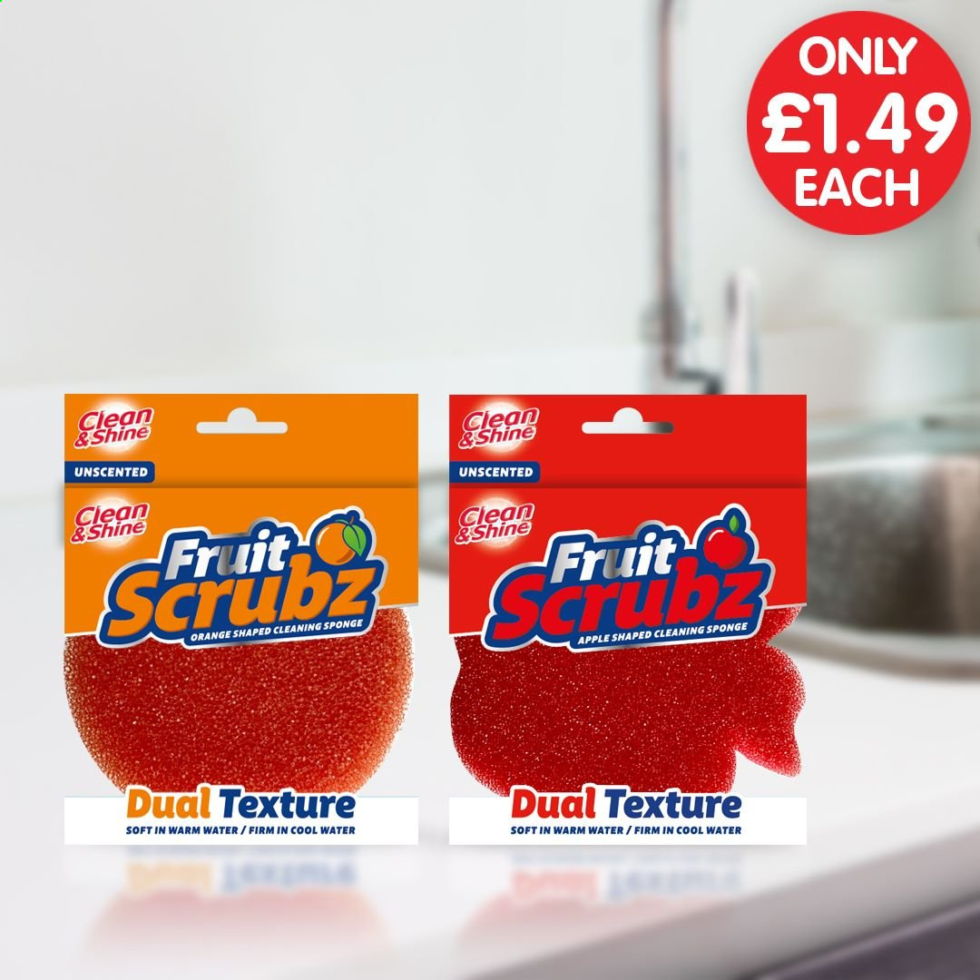 Poundstretcher offer  - Sales products - apple, sponge, cool, orange, fruit, apples. Page 2.