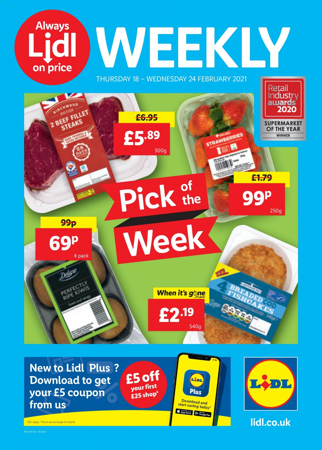 Lidl offer  - 18.2.2021 - 24.2.2021. Page 1.