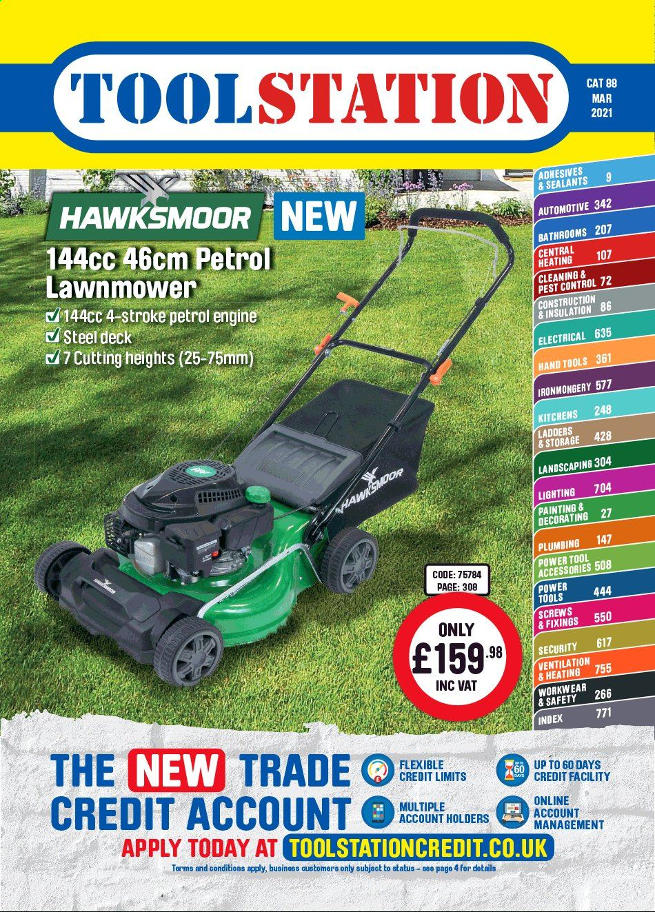 Toolstation offer  - 15.3.2021 - 30.4.2021 - Sales products - power tools, lawn mower, hand tools, painting kit. Page 1.