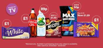 Costcutter offer  - 31.3.2021 - 20.4.2031.